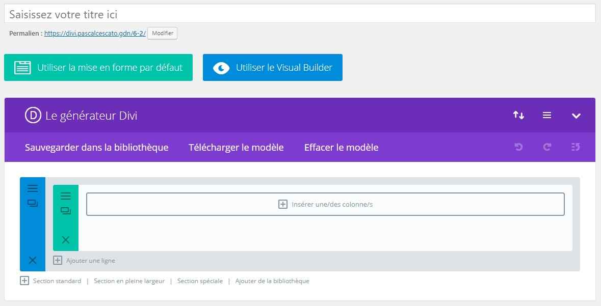 Divi Builder - version administration