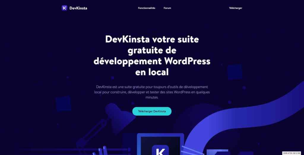 DevKinsta - développement WordPress en local