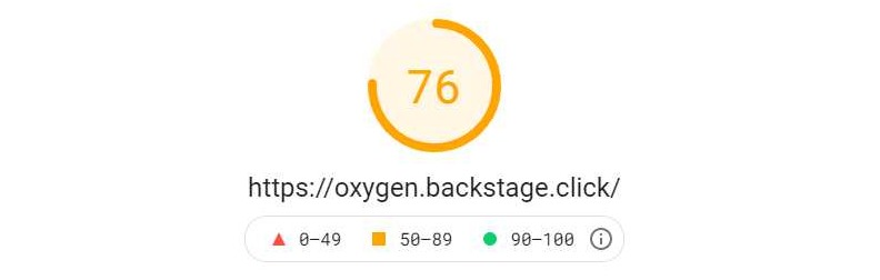 Oxygen - PageSpeed Mobile